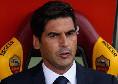 """Roma, Fonseca ai broadcaster: """"Abbiamo giocato bene, ci sono segnali di ripresa: ci manca l'equilibrio, perdiamo per un lampo di Insigne"""""""