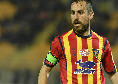 """Lecce, Mancosu: """"Prima di far goal al Napoli pensai 'o la mando in porta o finisce fuori lo stadio'. Se avessi preso la barriera..."""""""