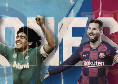 """Le migliori giocate di Messi e Maradona, splendida clip della SSC Napoli sui social: """"Il San Paolo scrive la storia del calcio"""" [VIDEO]"""