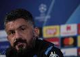 """Gattuso: """"Rinnovo? Incontrerò De Laurentiis nei prossimi giorni, ma non c'è fretta e per me non conta nulla. Ho ancora un anno di contratto a Napoli"""""""