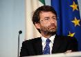 """Il Ministro Franceschini: """"Riapertura degli stadi di calcio? Allora anche per concerti e spettacoli"""""""