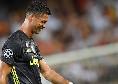Juventus, Cristiano Ronaldo out! Pirlo non lo convoca per la gara con il Benevento