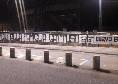 """""""Vicini alla famiglia Gattuso"""", i tifosi del Napoli espongono uno striscione all'esterno del San Paolo [FOTO]"""