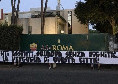 """Roma, striscioni di contestazione a Trigoria: """"Siete la vergogna di questa città"""""""