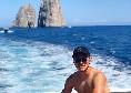Day off per gli azzurri dopo il Genoa, giornata in barca a Capri per Elmas [FOTO]