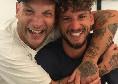 """Il rapper Clementino posa sorridente con Mertens: """"Capocannonieri"""" [FOTO]"""