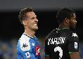 Ultimi due cambi per Gattuso: dentro Milik ed Elmas, out Insigne e Fabian