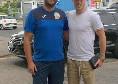 Jordan Veretout a Napoli, il calciatore della Roma fa visita con il suo agente alla scuola calcio ASD Micri [FOTO]