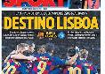 Barcellona-Napoli, la prima pagina di Sport: Destinazione Lisbona
