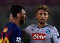 """Barcellona-Napoli, Mertens promosso nelle pagelle: """"Si muove bene con Insigne e provoca il rigore che dà qualche speranza al Napoli"""""""