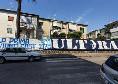 """Curva B, gli ultras hanno seguito insieme Parma-Napoli. Uno striscione recita: """"Noi la prima la viviamo così"""" [FOTO E VIDEO]"""