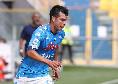 Napoli-Genoa 1-0, la sblocca Lozano dopo un taglio alla Callejon su cross di Mertens