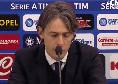 """Benevento, Inzaghi in conferenza: """"Abbiamo fatto spaventare un Napoli che lotterà per lo scudetto! Solo Insigne può mettere la palla lì, siamo orgogliosi"""""""