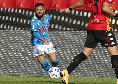 """Pareggio del Napoli! Gol fantastico di Insigne, sinistro a giro che """"bacia"""" la traversa e si insacca: è 1-1"""