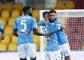 """Benevento-Napoli, Lorenzo Insigne a Roberto a fine gara: """"Il mio sinistro è più forte del tuo"""""""