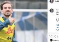 """Fabian Ruiz: """"Giorno duro di allenamento con un obiettivo chiaro: vincere giovedì"""" [FOTO]"""
