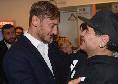 """Totti su Maradona: """"Diego persona straoridinaria dentro e fuori dal campo! E' stato il primo a chiamarmi quando ho smesso di giocare, un gesto che non dimenticherò"""""""