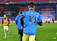 Crystal Palace-Newcastle, l'ex Napoli Fernandez in campo per il riscaldamento con la maglia di Maradona [FOTO]