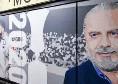 """Murales sulla storia del Napoli, c'è De Laurentiis ma non Ferlaino: """"Se ne sono accorti in molti che non ci sono..."""""""