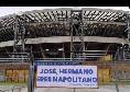 """Napoli-Fiorentina, cartellone all'esterno del Maradona per Callejon: """"Josè, hermano eres napolitano"""" [FOTO]"""