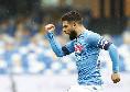 Napoli-Fiorentina, Insigne sblocca il match! 1 a 0