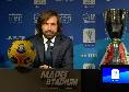 """Supercoppa, Pirlo: """"Napoli squadra forte, ma li abbiamo studiati: vogliamo portare a casa la coppa. Io contro Gattuso? No, questa sarà la finale Juve-Napoli!"""""""