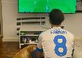 """Fabian guarda Juve-Napoli da casa: """"Oggi sono un tifoso in più e sono in buona compagnia. Un giorno in meno al mio ritorno"""" [FOTO]"""