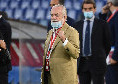 """""""Non meritavamo di perdere, avete giocato da grandi! C'è poco da essere tristi, io sono contento di voi"""", De Laurentiis rincuora il Napoli"""