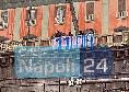 """I tifosi del Napoli caricano gli azzurri, spunta uno striscione in zona Galleria Vittoria: """"11 leoni"""" [FOTO CN24]"""