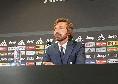 """Juventus, Pirlo: """"Domani decisiva anche per la panchina? Se fosse così non sarei venuto nemmeno in conferenza"""""""