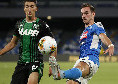 """Sassuolo, Djuricic all'intervallo: """"Abbiamo la partita sotto controllo, il Napoli ha segnato sull'unico tiro fatto"""""""