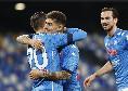 Sassuolo-Napoli 2-2, Di Lorenzo in spaccata su assist di Insigne