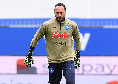 "Sampdoria-Napoli, Sky rivela: ""Problema muscolare per Ospina, si scalda Meret"""