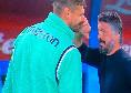 Napoli-Udinese, Llorente abbraccia e saluta affettuosamente Gattuso: i due parlano da diversi minuti [FOTO]