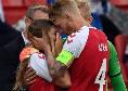 Sky - Malore Eriksen, Kjaer è il primo a soccorrerlo: poi consola la moglie in lacrime