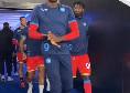 Napoli, esordio per la maglia rossa questa sera contro il Leicester [FOTO]