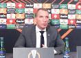 """Leicester, Rodgers in conferenza: """"Il Napoli resta favorito per l'Europa League, ma l'arbitro non ha arbitrato bene"""". Barnes: """"Il gol annullato? Sembrava valido"""""""