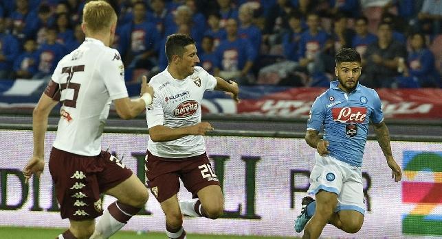 Napoli-Torino, le probabili formazioni: Valdifiori dall'inizio, Mertens nella ripresa. Ventura col dubbio Belotti, si rivedono Glik e Bruno Peres