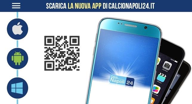 Scarica l'App ufficiale di CalcioNapoli24: news GRATIS sul cellulare Android, iOs, Windows e vedi pure la TV!