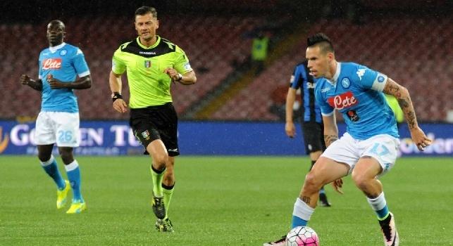 Serie A, le designazioni arbitrali della 16a di ritorno: Napoli-Cagliari affidata a Giacomelli, Milan-Roma a Rizzoli