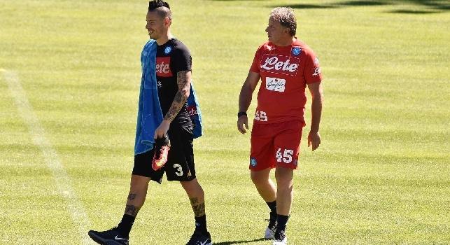 De Nicola: Per Albiol due o tre settimane di stop, Chiriches tornerà in gruppo già lunedì! Per Hamsik solo crampi dovuti alla stanchezza