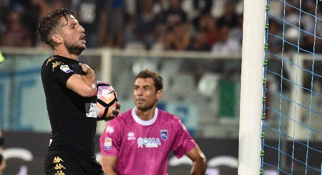 Pescara-Napoli, le pagelle: Mertens, <i>che scossa</i>! Milik convince, Ghoulam <i>quanti sprechi</i>! Gabbiadini ed Insigne, <i>serata-no</i>
