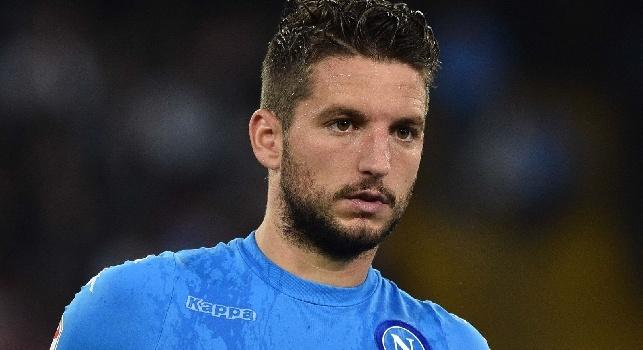 Mertens deluso, lascia il San Paolo a testa bassa: salterà il match con l'Inter