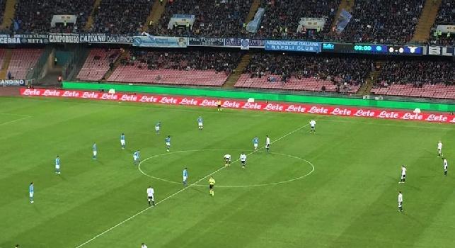 RILEGGI LIVE - Napoli-Lazio 1-1 (53' Hamsik, 54' Keita): game over, pareggio dal sapore amaro per il Napoli