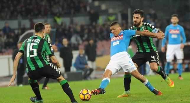 Sassuolo, differenziato per ben sei giocatori in vista del Napoli: il report