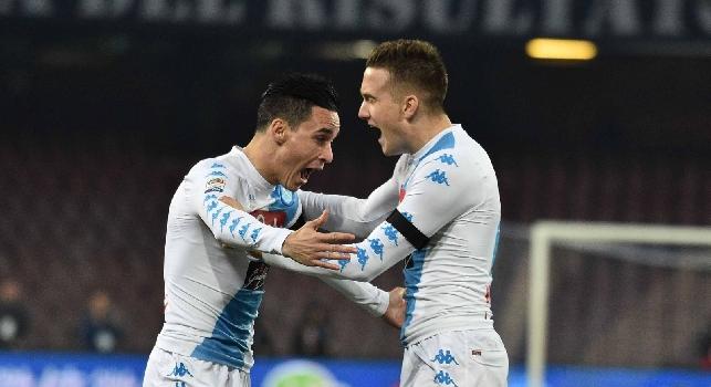 Napoli-Inter, le pagelle: Zielinski <i>ammaliante</i>, Reina <i>dice no!</i> Hamsik come il Matador, ottimo Hysaj. Rog <i>come se avesse segnato</i>