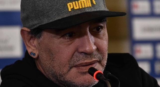 Crc - Maradona si recherà direttamente questo pomeriggio al teatro San Carlo alle ore 17