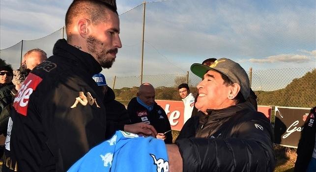 Marek Hamsik e Diego Armando Maradona