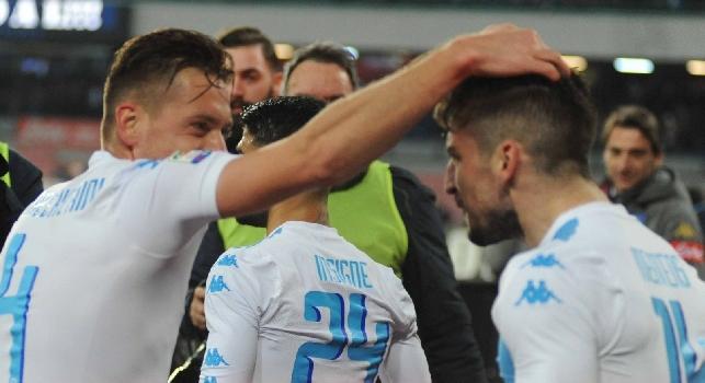 Napoli-Genoa, le pagelle: Zielinski impetuoso, Mertens pazzesco! Giaccherini gasa i tifosi, Hamsik un po' annebbiato