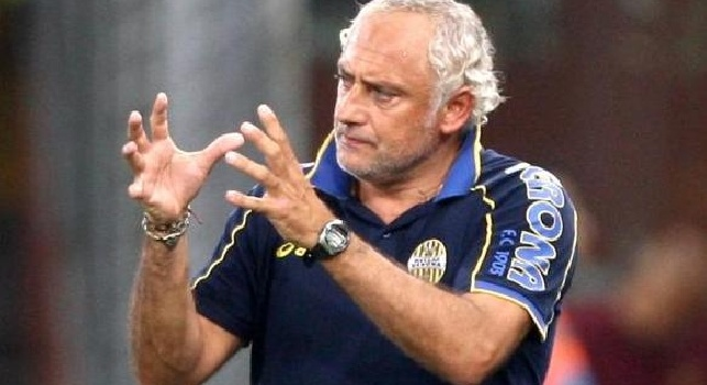 Andrea Mandorlini con la divisa del Verona